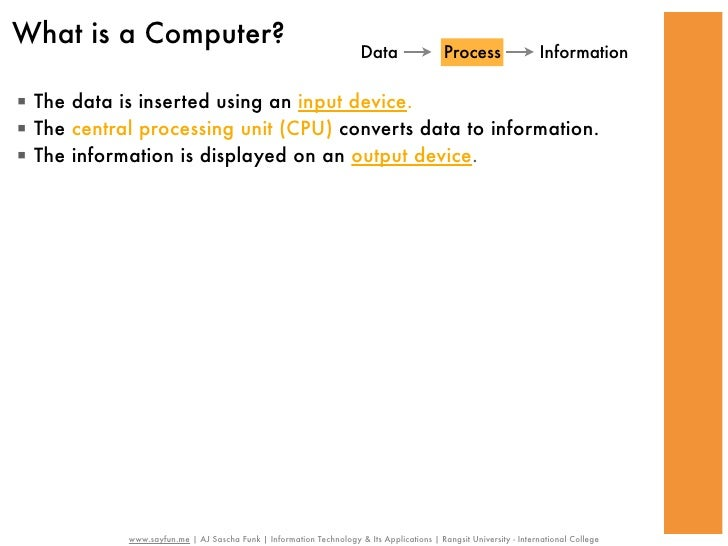 What is a Computer?                                                                      Data                 Process     ...