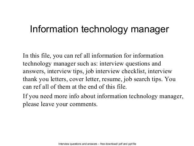 Technology Management Image: Information Technology Manager