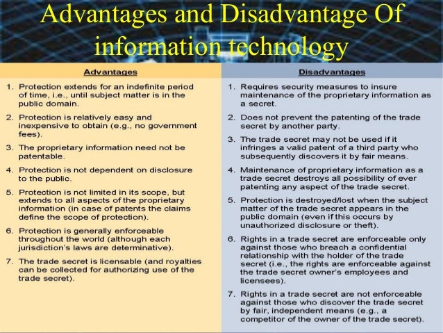 advantages and disadvantages of online business information technology essay The most common forms of media today are radio, internet, newspaper and television media is an important part of our lives it is also two-sided meaning that it has a positive side and a negative one.