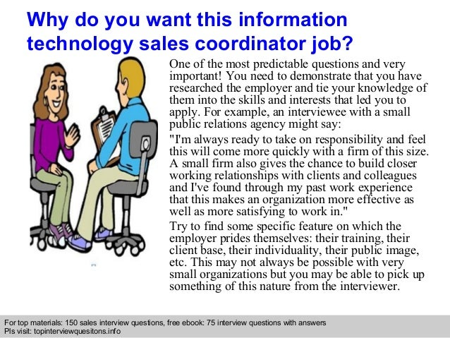 Information technology sales coordinator interview questions and answ…