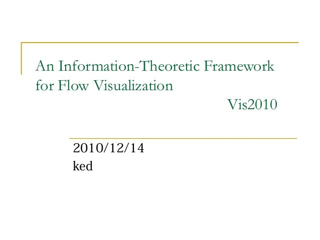 An Information-Theoretic Frameworkfor Flow VisualizationVis20102010/12/14ked