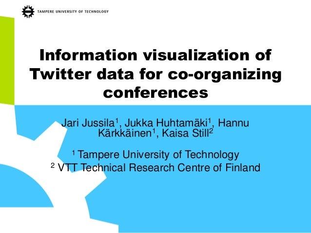 Information visualization of Twitter data for co-organizing conferences Jari Jussila1, Jukka Huhtamäki1, Hannu Kärkkäinen1...