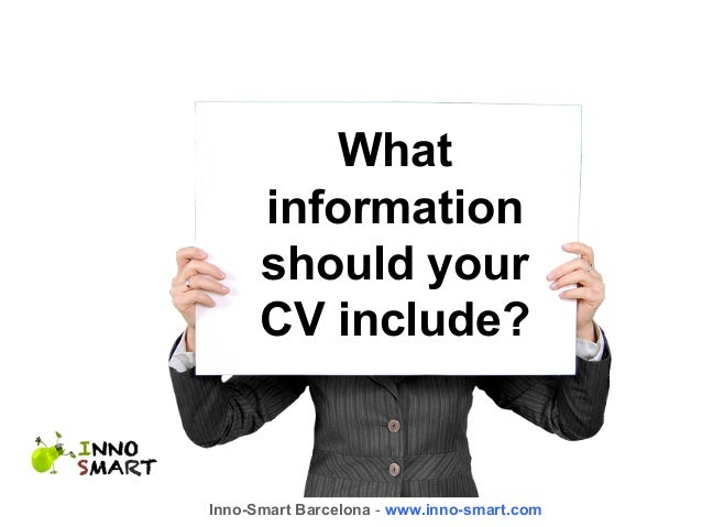 what information should your cv include