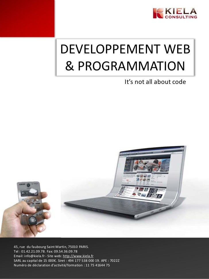 DEVELOPPEMENT WEB                              & PROGRAMMATION                                                            ...