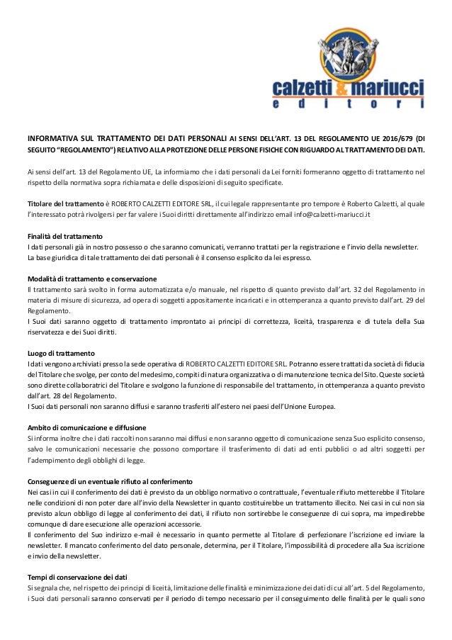 "INFORMATIVASULTRATTAMENTODEIDATIPERSONALIAISENSIDELL'ART.13DELREGOLAMENTOUE2016/679(DI SEGUITO""REGOL..."