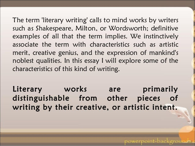 literary writing examples