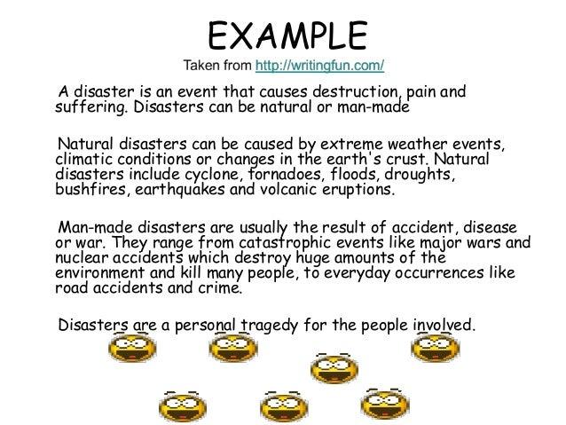 natural disasters paragraph