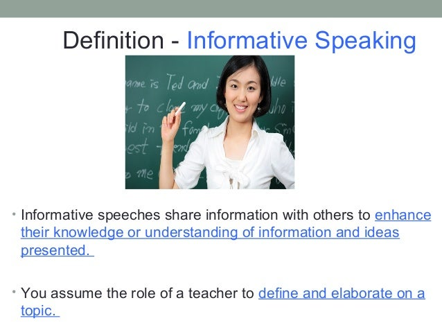 topic ideas for informative speeches