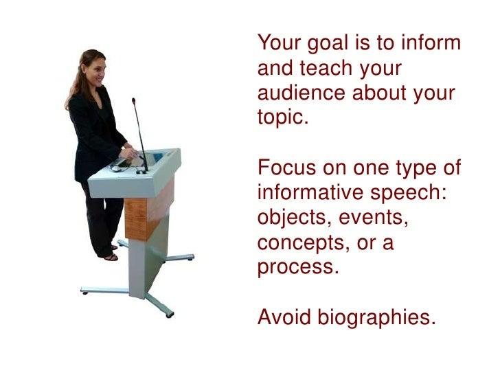 5 types of informative speeches