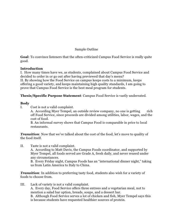 speech outline examples - best resumes, Presentation templates