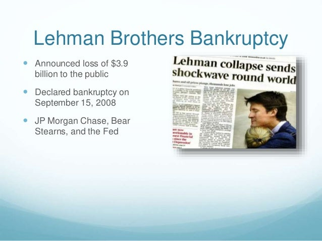 bankruptcy of lehman brothers a pointer of subprime crisis ppt