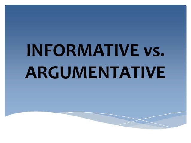 Difference between argumentative and persuasive essays