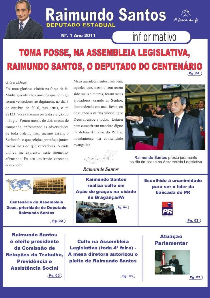 Raimundo Santos                                      Nº. 1 Ano 2011                                                       ...
