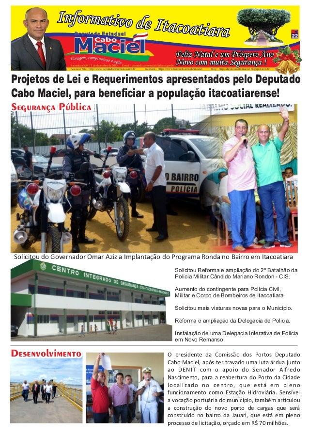Deputado Estadual  Maciel Cabo  Coragem, compromisso  e ação  Feliz Natal e um Próspero Ano Novo com muita Segurança !  It...