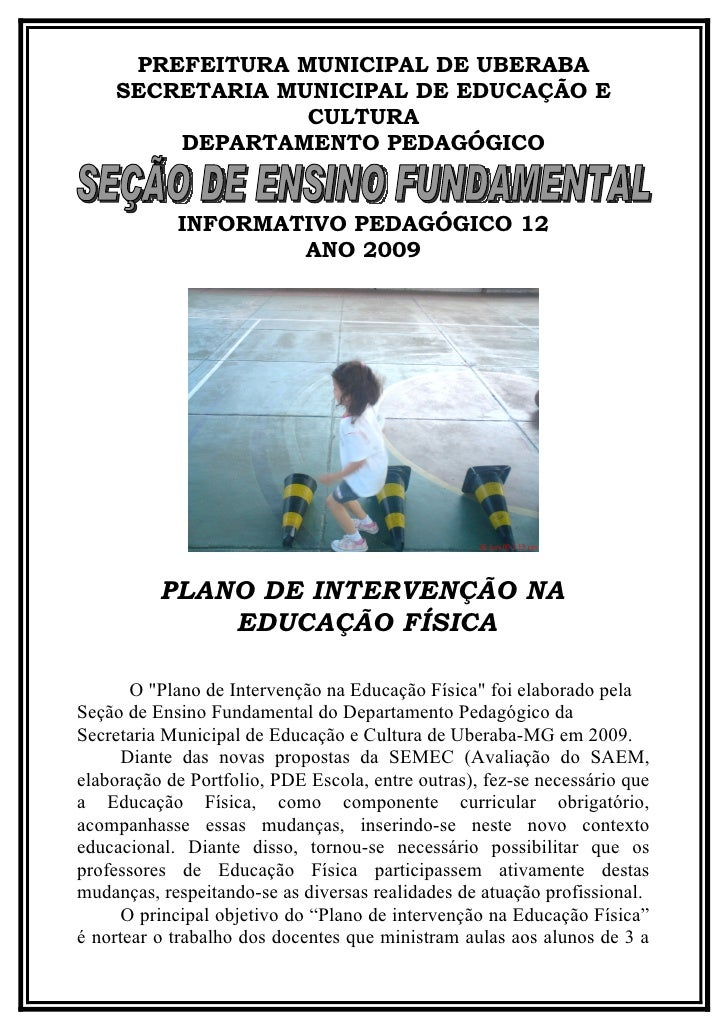 PREFEITURA MUNICIPAL DE UBERABA     SECRETARIA MUNICIPAL DE EDUCAÇÃO E                  CULTURA         DEPARTAMENTO PEDAG...