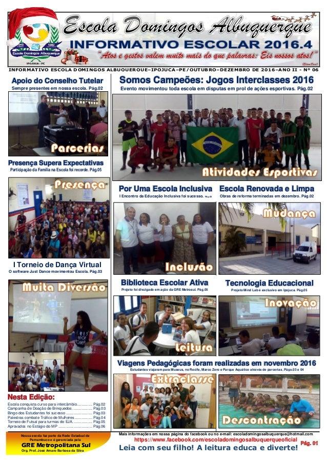 Nossa escola faz parte da Rede Estadual de Pernambuco e é gerenciada pela GRE Metropolitana Sul Org. Prof. José Amaro Barb...
