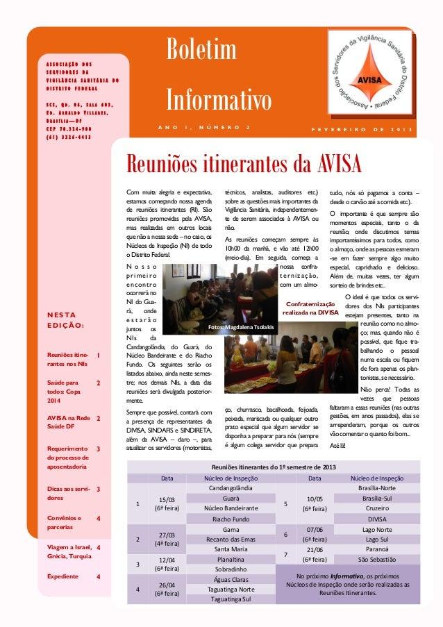 ASSOCIAÇÃO DOSSERVIDORES DA                                          BoletimVIGILÂNCIA SANITÁRIA DO                       ...