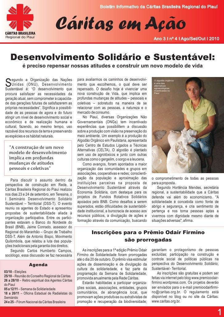 Boletim Informativo da Cáritas Brasileira Regional do Piauí                                         Cáritas em Ação       ...