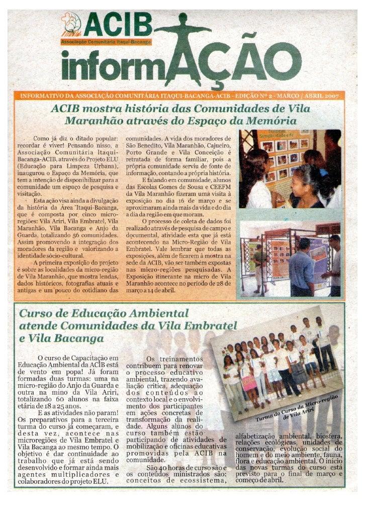 Informativo ed 2 março abril 2007