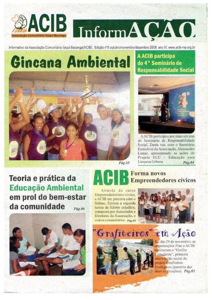 ACIB Informativo ed 5 out nov dez 2008