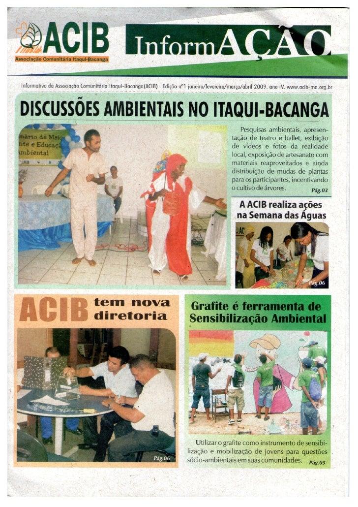 ACIB Informativo especial ed 1 2009