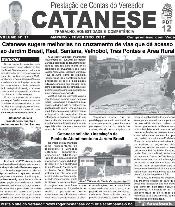 VOLUME Nº 11                                      AMPARO - FEVEREIRO 2012                                              Com...