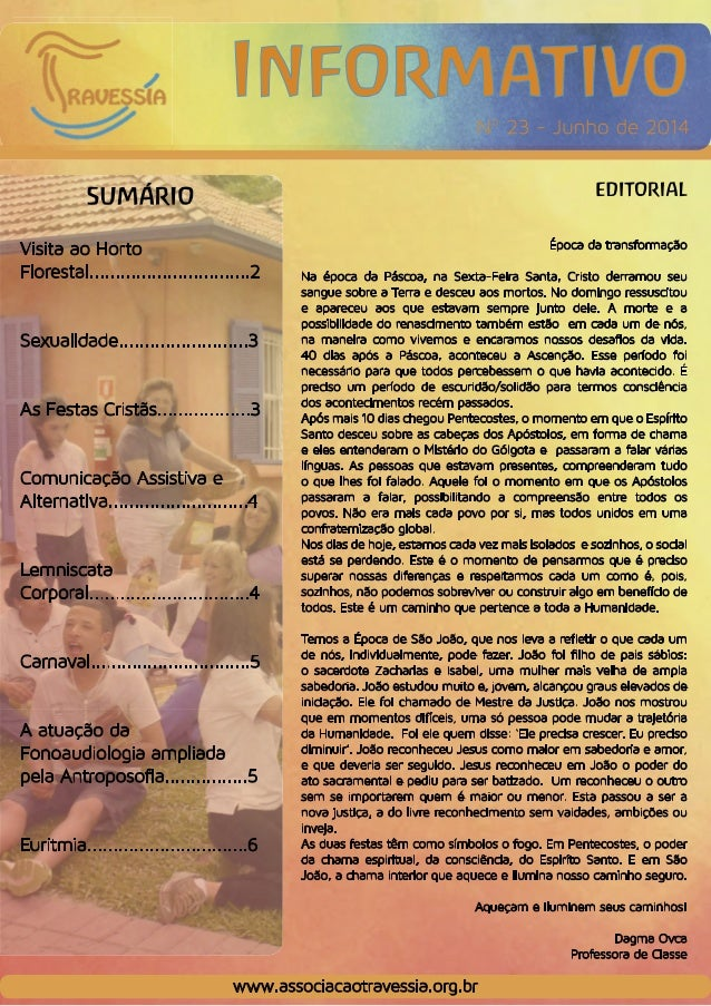 Associação Travessia - Informativo Junho 2014