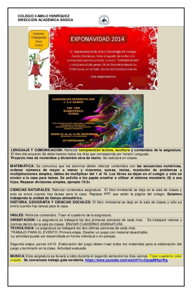 Informativo n°39 -_2°_basico_b_-_12_de_diciembre_de_2014 - Slide 2