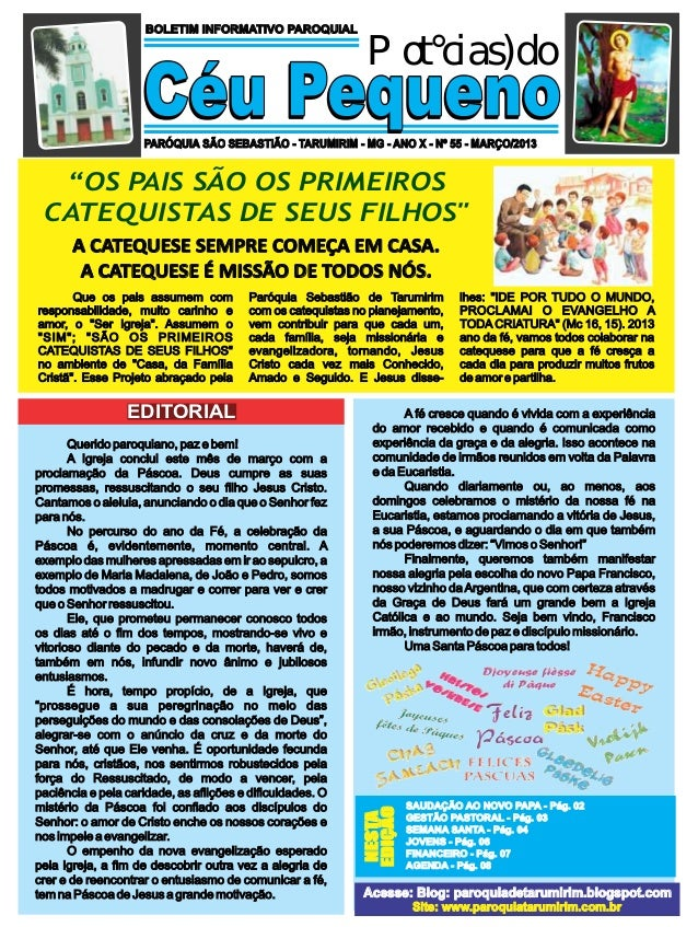 BOLETIM INFORMATIVO PAROQUIAL                                                             Notícias do                    C...