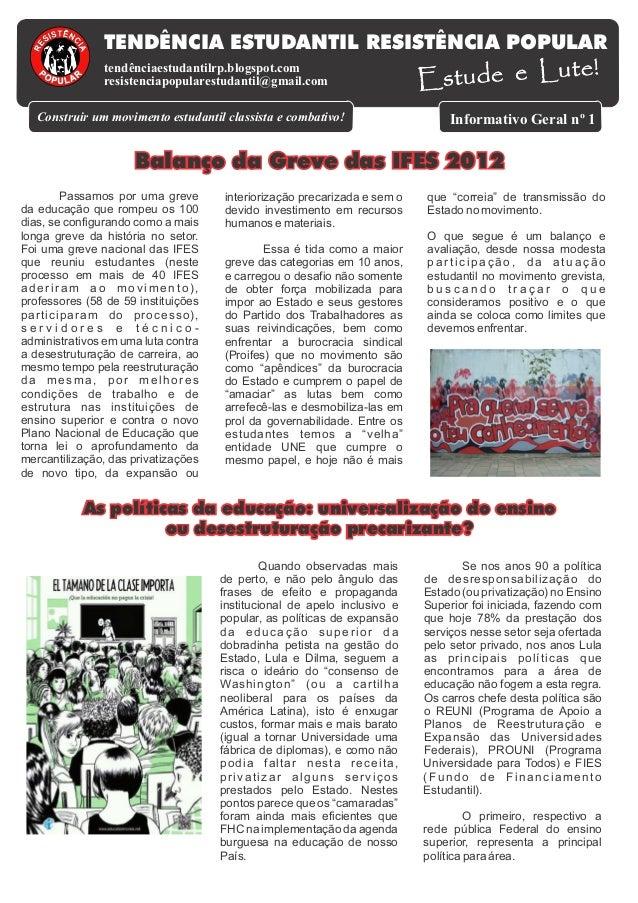 TENDÊNCIA ESTUDANTIL RESISTÊNCIA POPULAR                                                                          Estude e...
