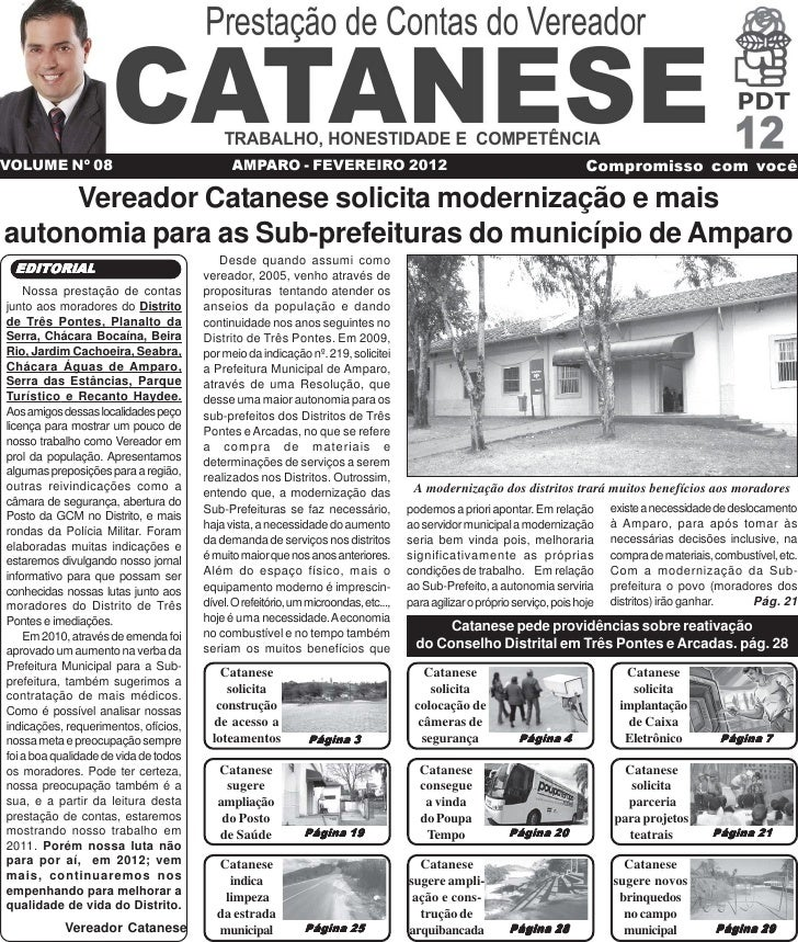 VOLUME Nº 08                                 AMPARO - FEVEREIRO 2012                                                  Comp...