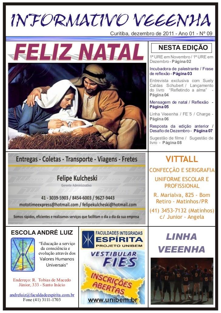 Informativo Veeenha - Ed 09 -  Dezembro/2011