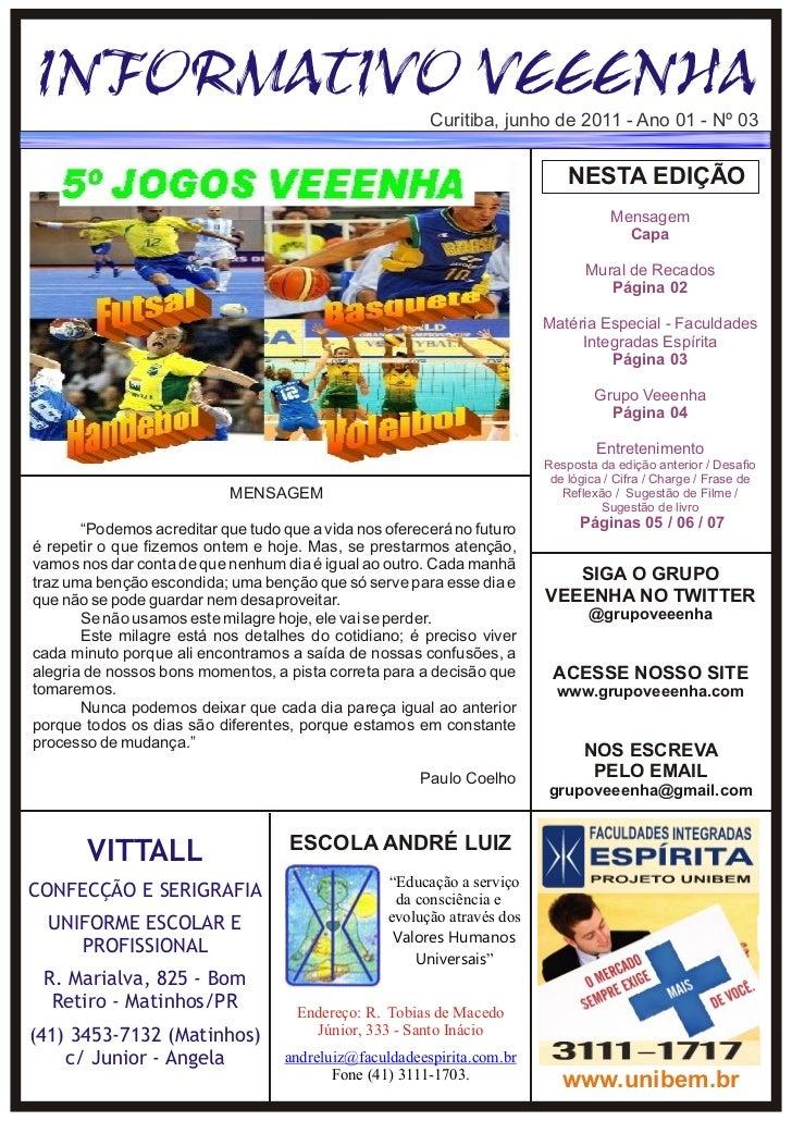 Informativo veeenha junho nº 03