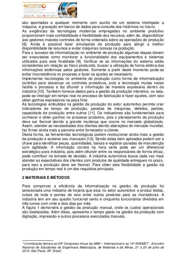 Informatização da gestão da produção em uma forjaria no setor automotivo Slide 3