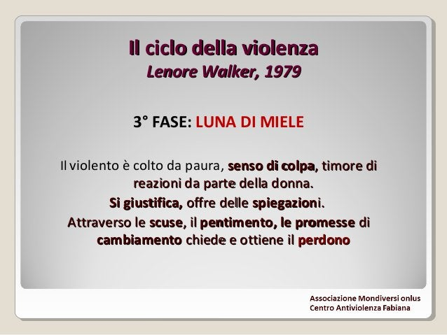Il ciclo della violenzaIl ciclo della violenza