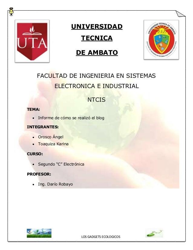 UNIVERSIDAD                          TECNICA                        DE AMBATO   FACULTAD DE INGENIERIA EN SISTEMAS        ...