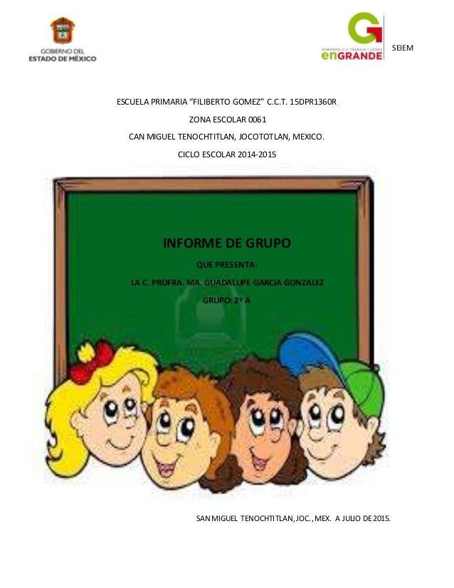 """SEIEM ESCUELA PRIMARIA """"FILIBERTO GOMEZ"""" C.C.T. 15DPR1360R ZONA ESCOLAR 0061 CAN MIGUEL TENOCHTITLAN, JOCOTOTLAN, MEXICO. ..."""