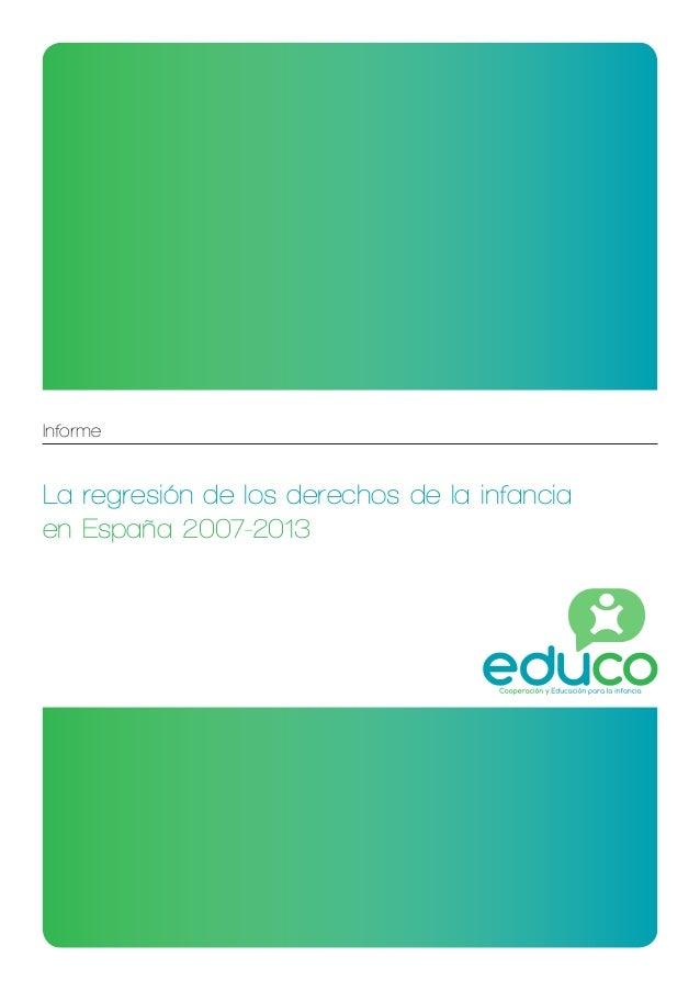 Informe La regresión de los derechos de la infancia en España 2007-2013