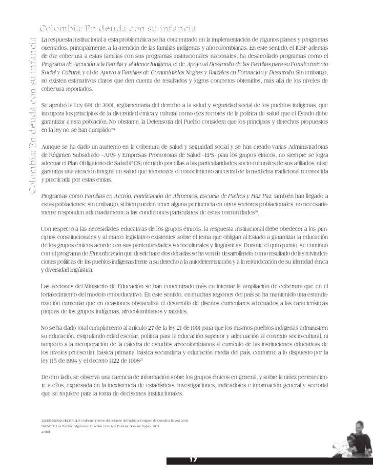 Informe complementario al informe del estado colombiano al comité de …