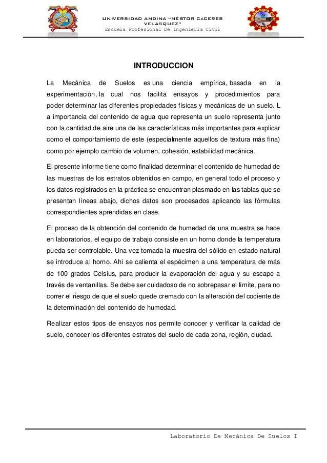 Informe De Contenido De Humedad De Un Suelo Slide 2