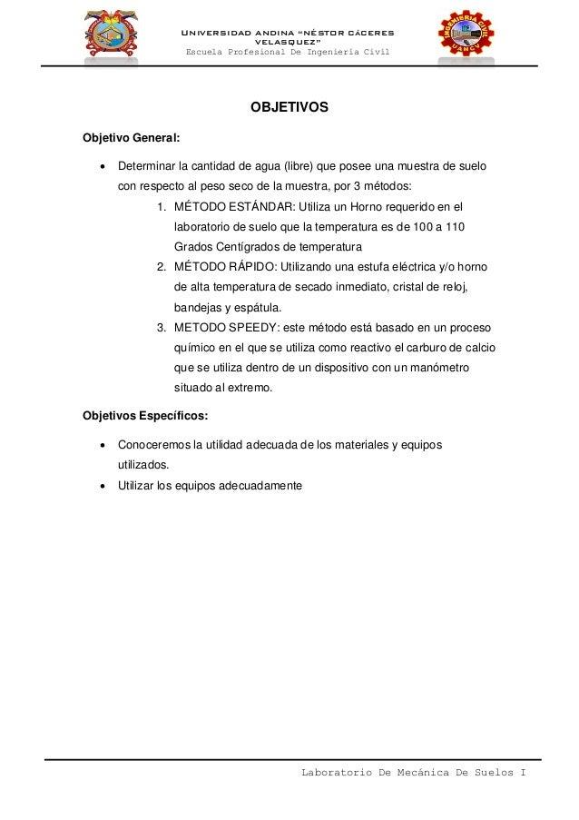 Informe De Contenido De Humedad De Un Suelo Slide 3