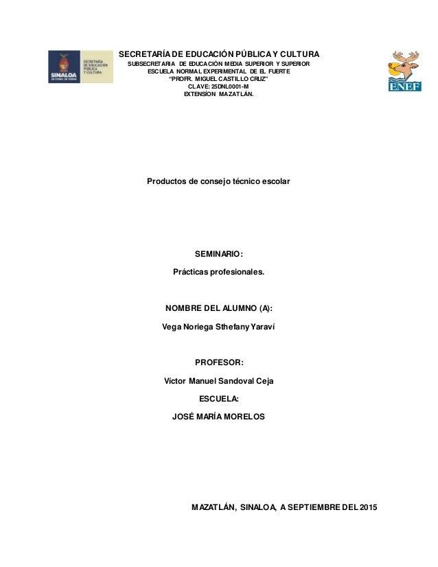 SECRETARÍADE EDUCACIÓN PÚBLICAY CULTURA SUBSECRETARIA DE EDUCACIÓN MEDIA SUPERIOR Y SUPERIOR ESCUELA NORMAL EXPERIMENTAL D...