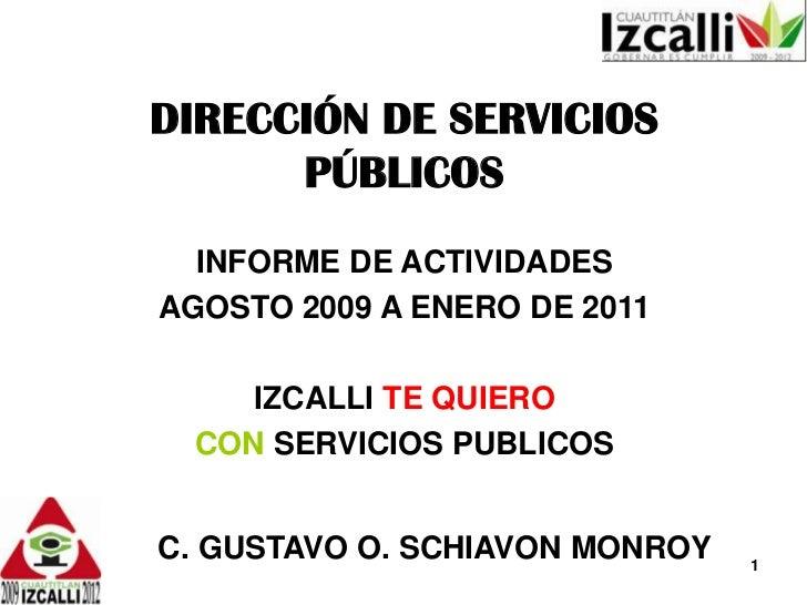 INFORME DE ACTIVIDADES DE AGOSTO 2009 A ENERO DE 2011.pptx