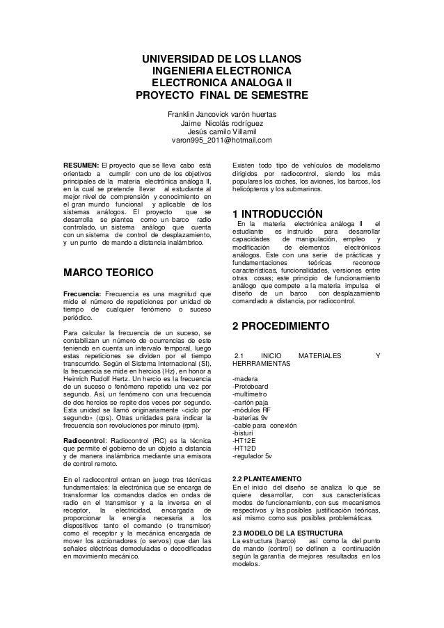 Aplicación De Modulos Rf Radio Control