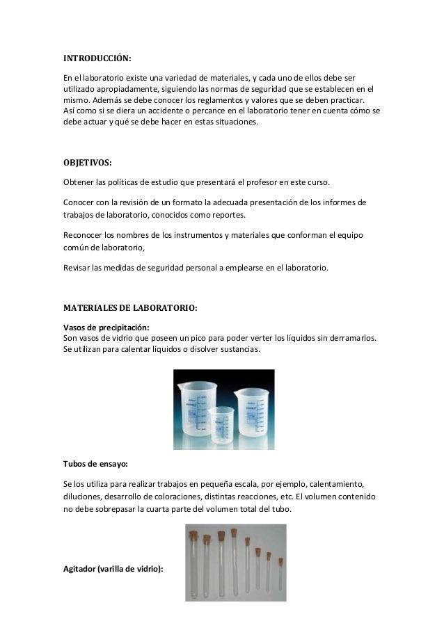 Laboratorio de química general 1, informe 1