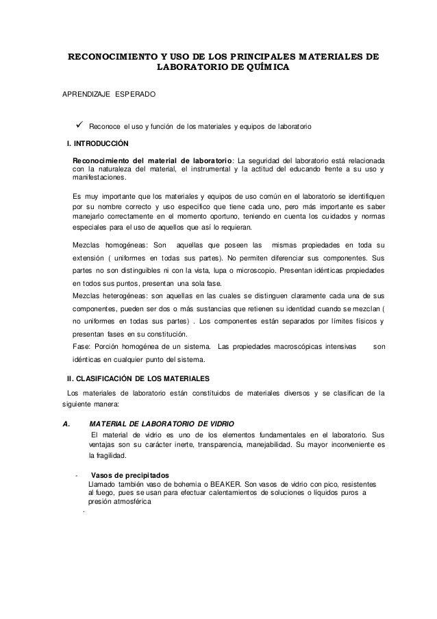 Informe 1: RECONOCIMIENTO DE MATERIAL DE LABORATORIO Slide 2