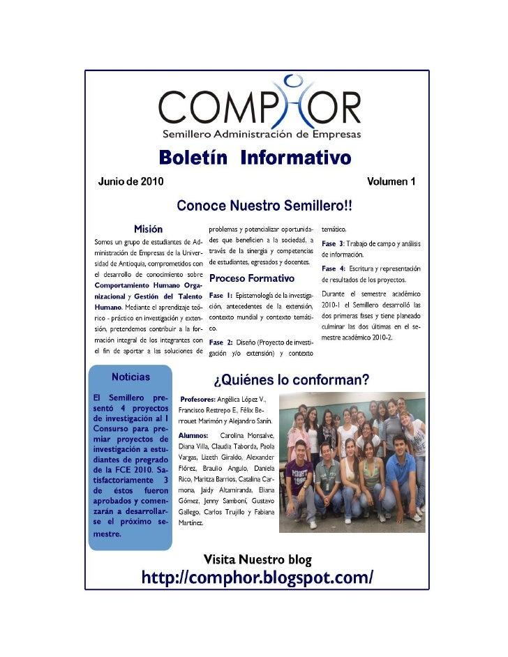 Informe 1 comphor