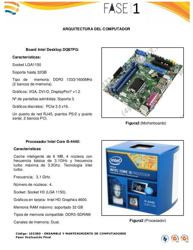 Código: 103380 - ENSAMBLE Y MANTENIMIENTO DE COMPUTADORES Fase: Evaluación Final ARQUITECTURA DEL COMPUTADOR Figura2 (Moth...