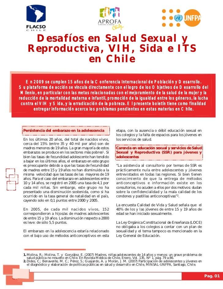 Desafíos en Salud Sexual y    Reproductiva, VIH, Sida e ITS              en Chile   En 2009 se cumplen 15 años de la Confe...