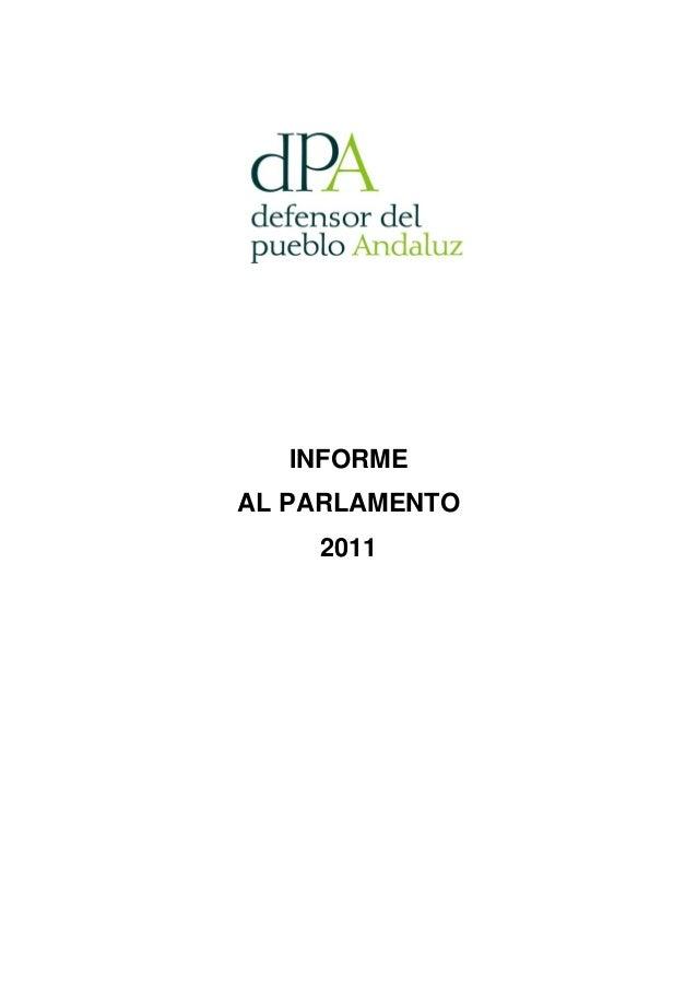INFORMEAL PARLAMENTO    2011